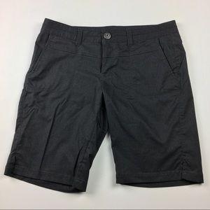 Athleta Charcoal Gray Stretchy Bermuda Shorts